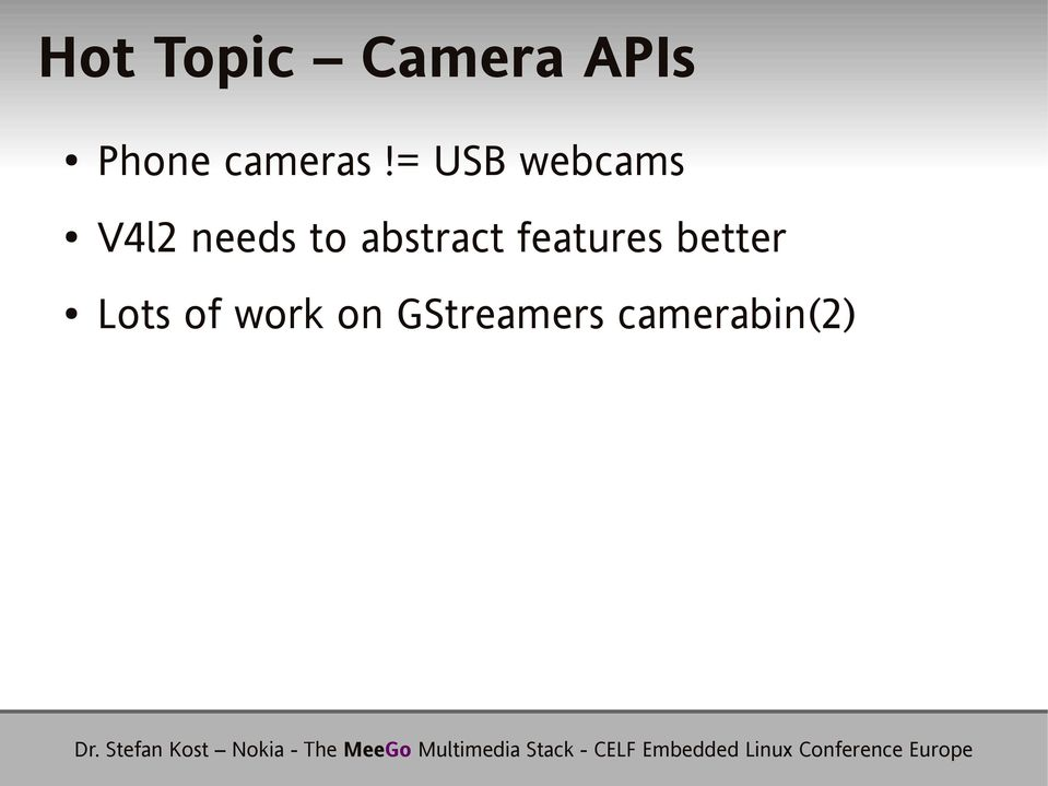 = USB webcams V4l2 needs to