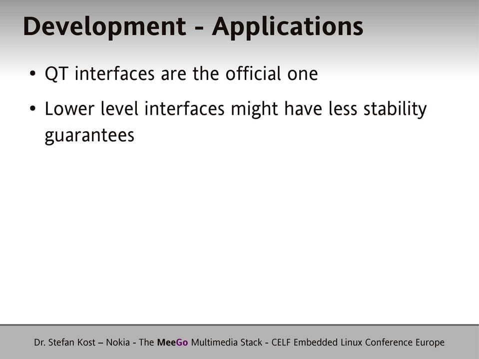 one Lower level interfaces