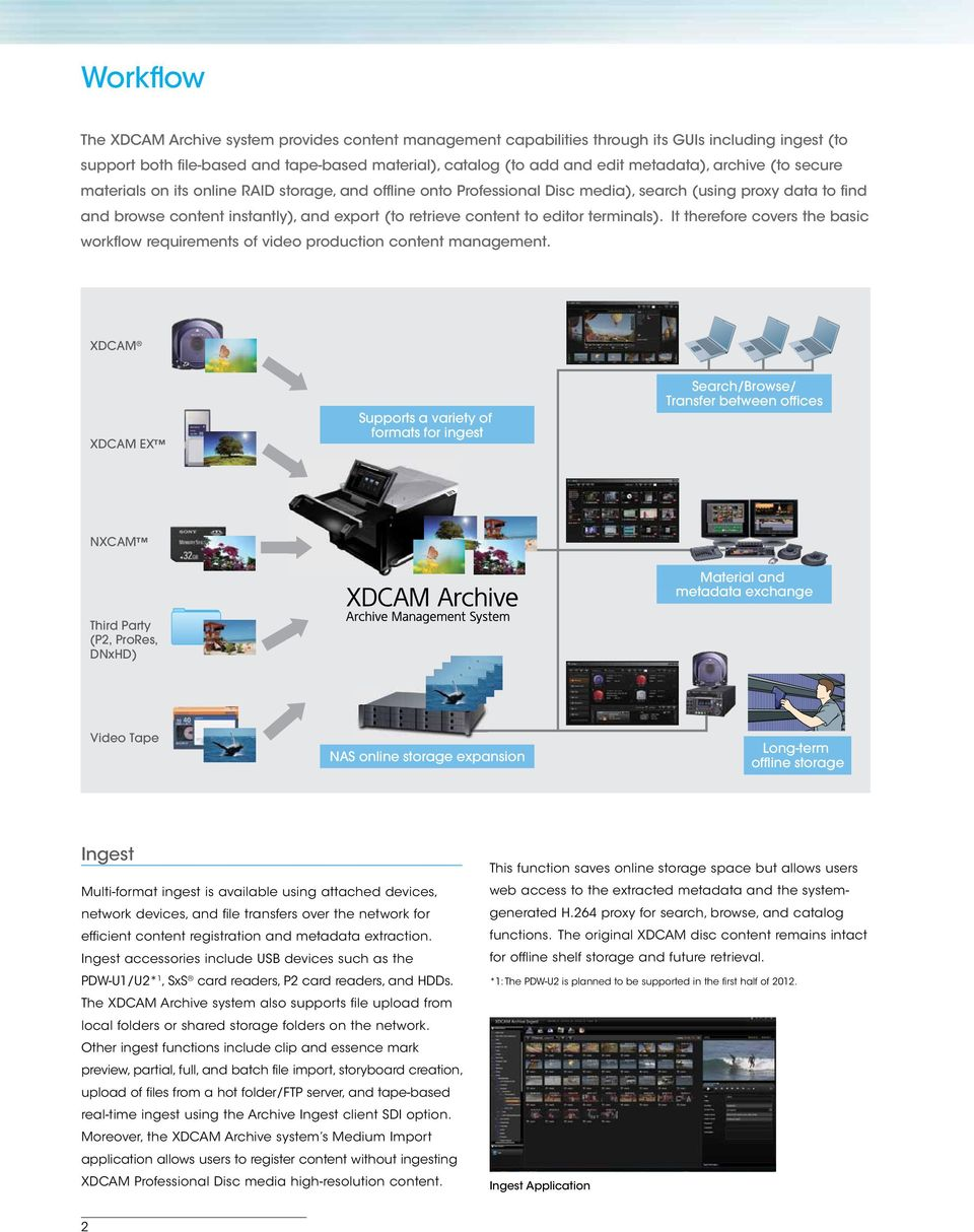 editor terminals). It therefore covers the basic workflow requirements of video production content management.