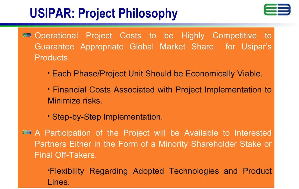 Financial Costs Associated with Project Implementation to Minimize risks. Step-by-Step Implementation.