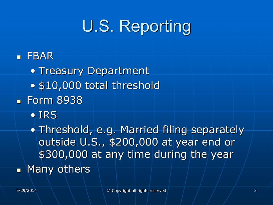 Married filing separately outside U.S.