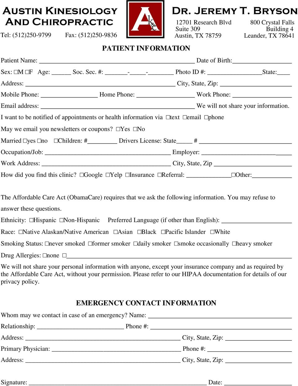 you newsletters or coupons? Yes No Married yes no Children: # Drivers License: State # We will not share your information.