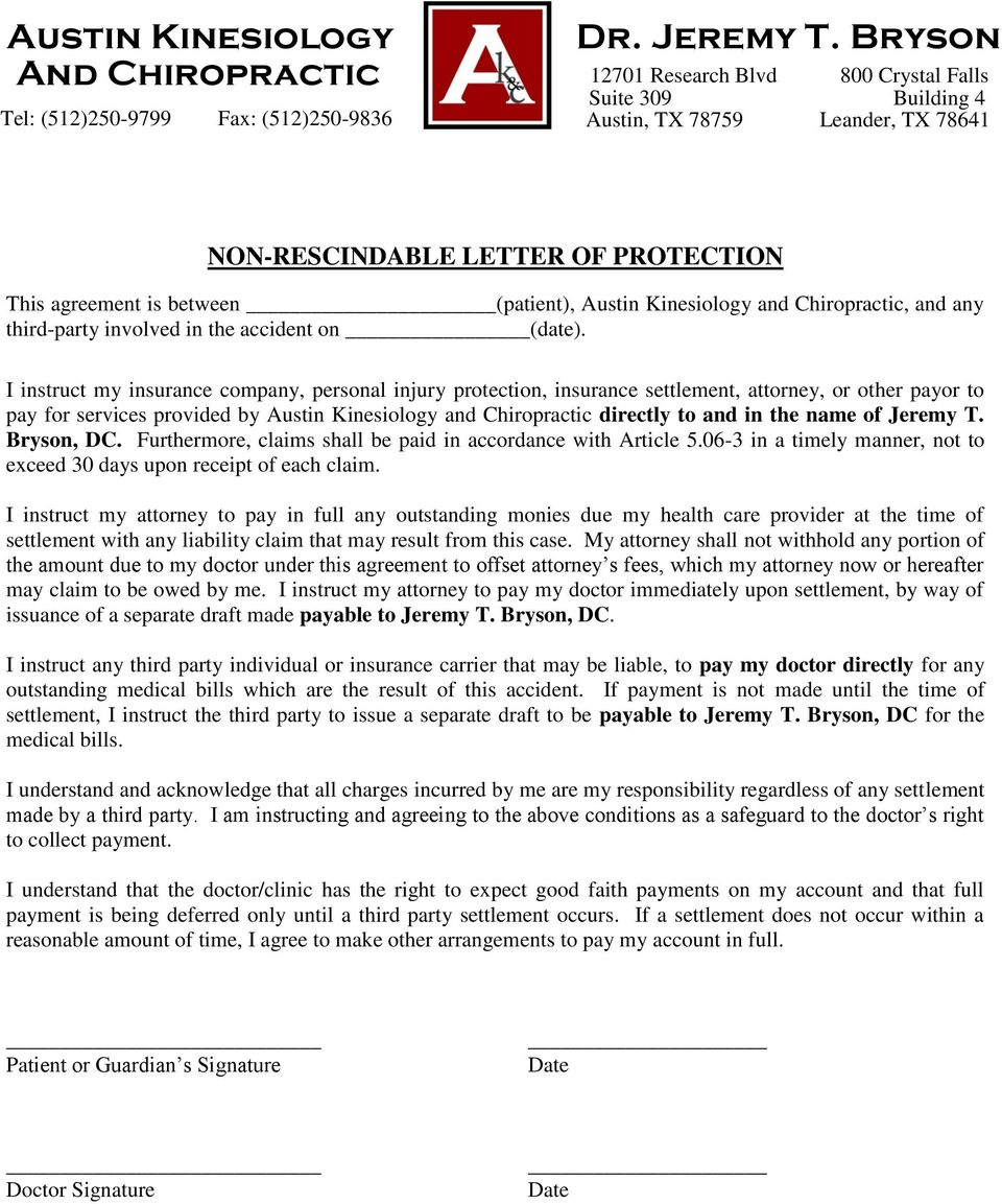name of Jeremy T. Bryson, DC. Furthermore, claims shall be paid in accordance with Article 5.06-3 in a timely manner, not to exceed 30 days upon receipt of each claim.