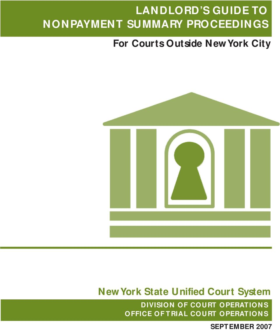 York State Unified Court System DIVISION OF