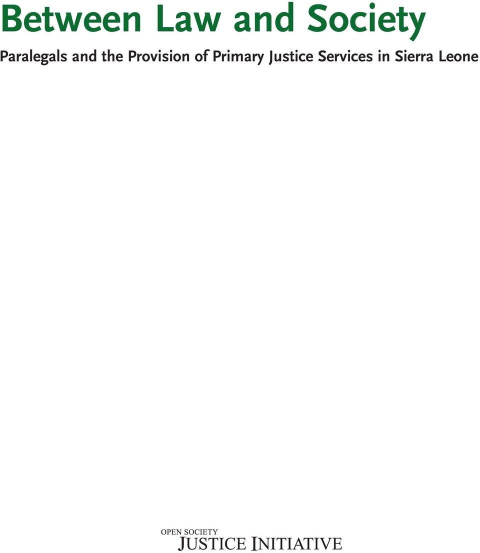 Provision of Primary