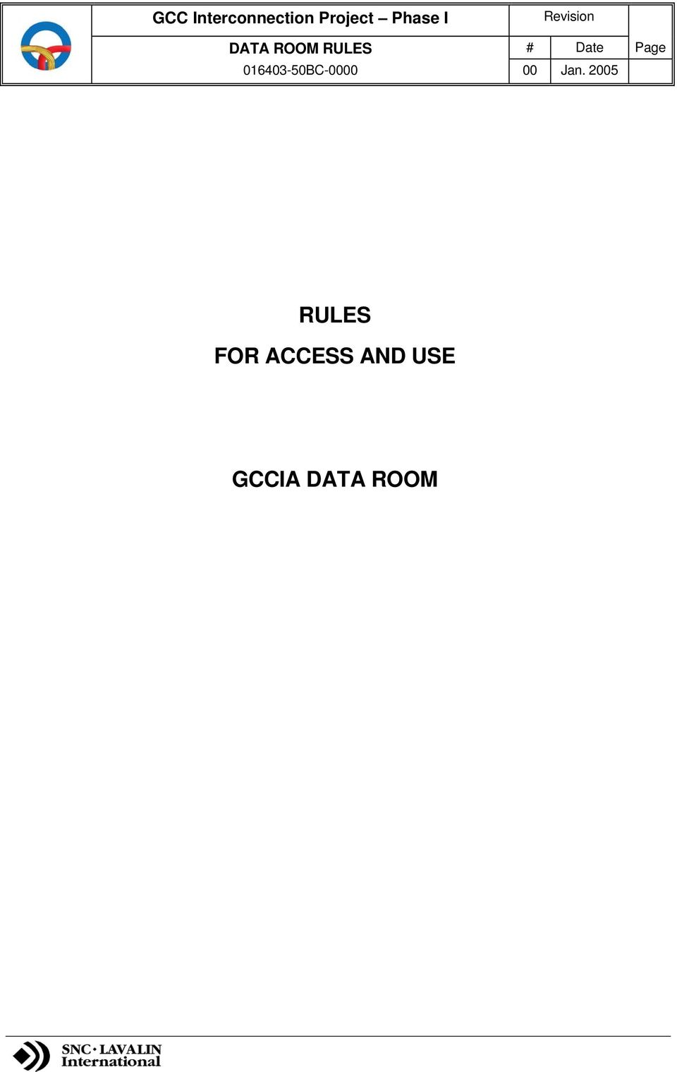 2005 RULES FOR