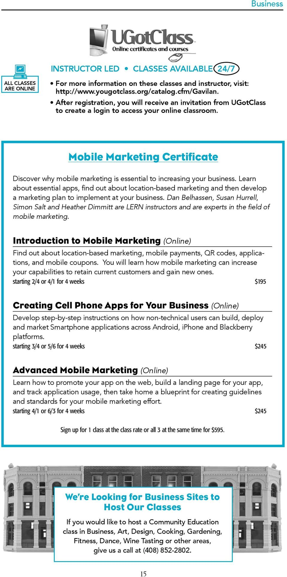 Mobile Marketing Certificate Discover why mobile marketing is essential to increasing your business.