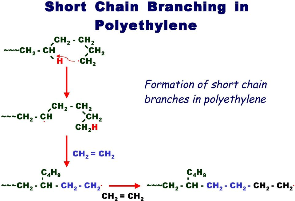 H Formation of short chain branches in
