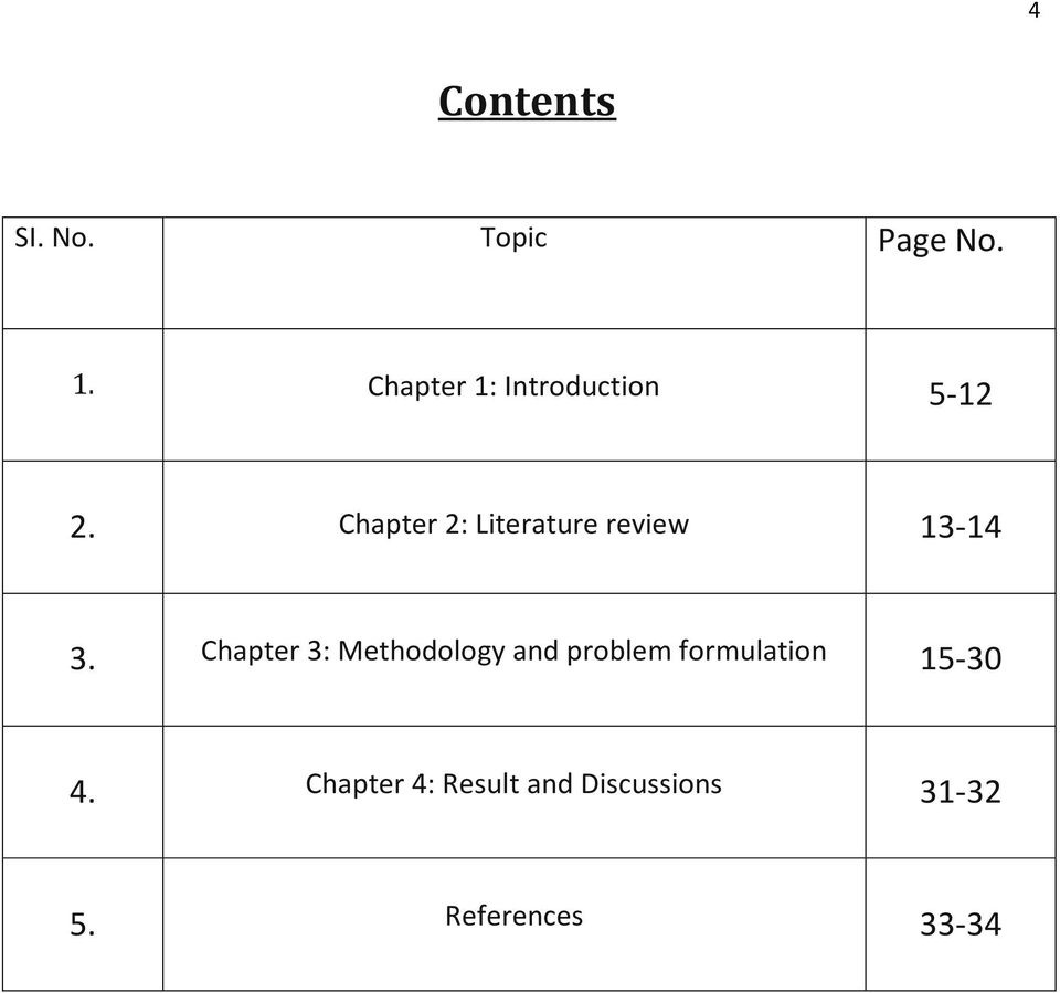 Chapter 2: Literature review 13-14 3.