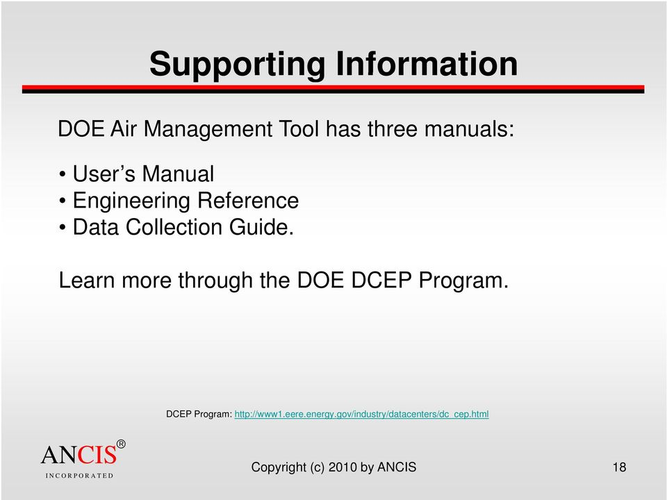 Learn more through the DOE DCEP Program. DCEP Program: http://www1.