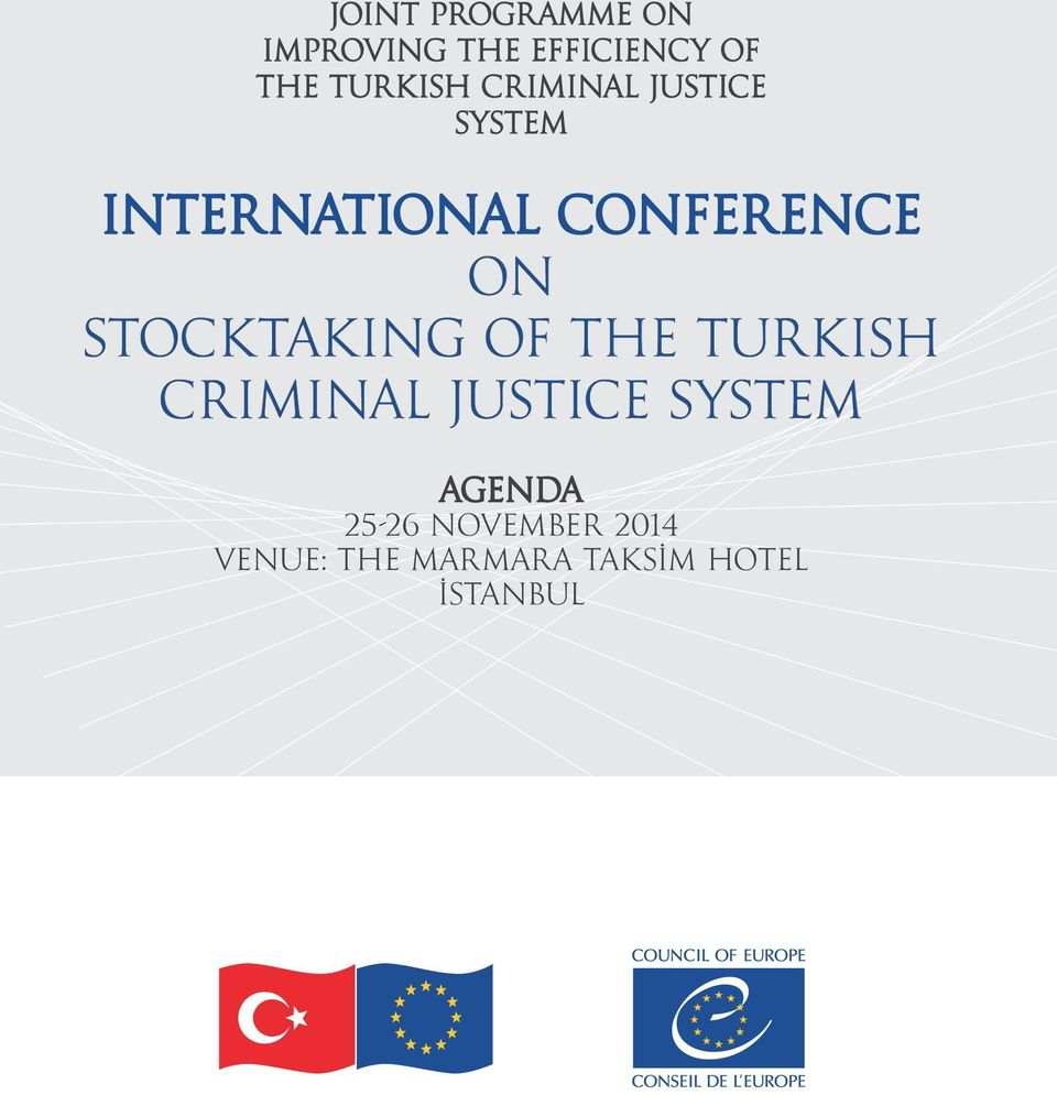 on STOCKTAKING of the TURKISH CRIMINAL JUSTICE SYSTEM