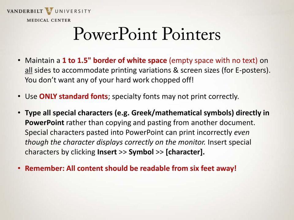 Greek/mathematical symbols) directly in PowerPoint rather than copying and pasting from another document.