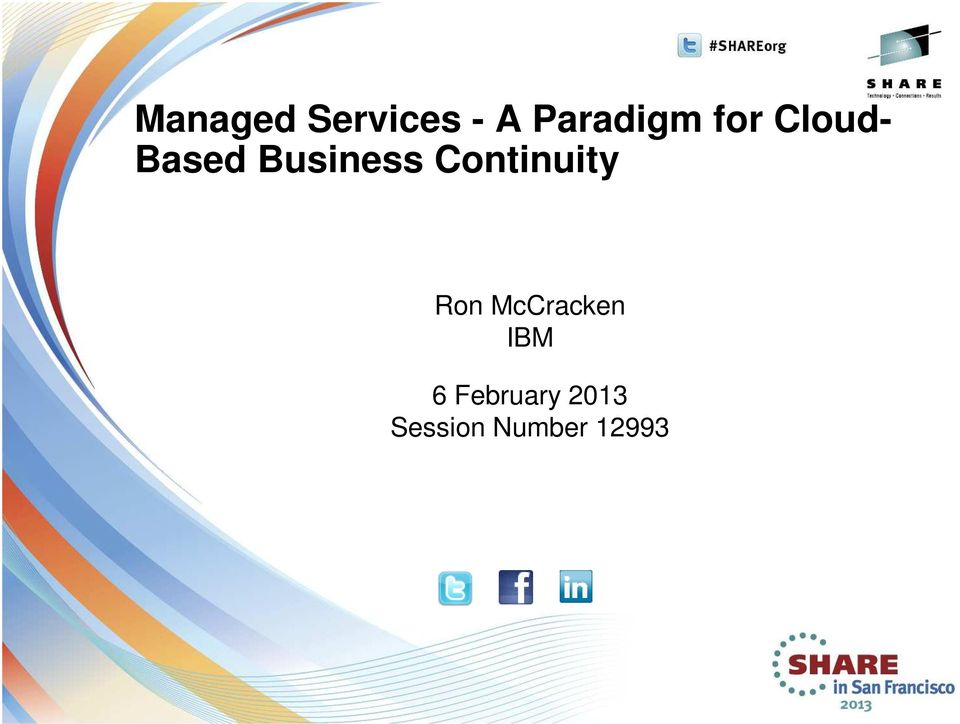 Continuity Ron McCracken IBM 6