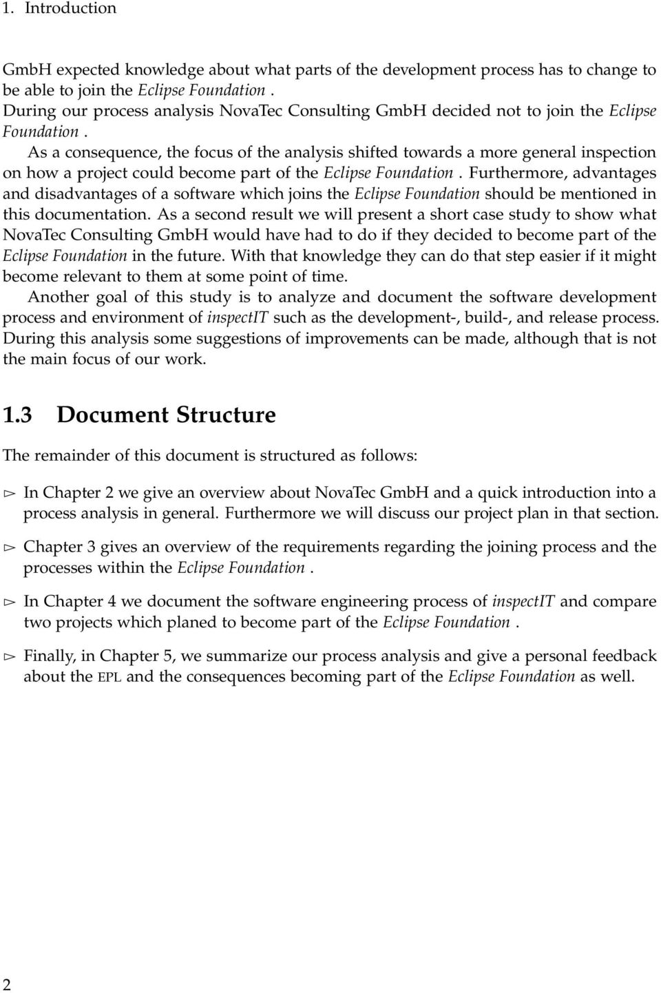 Analysis of the Software Development Process of inspectit and
