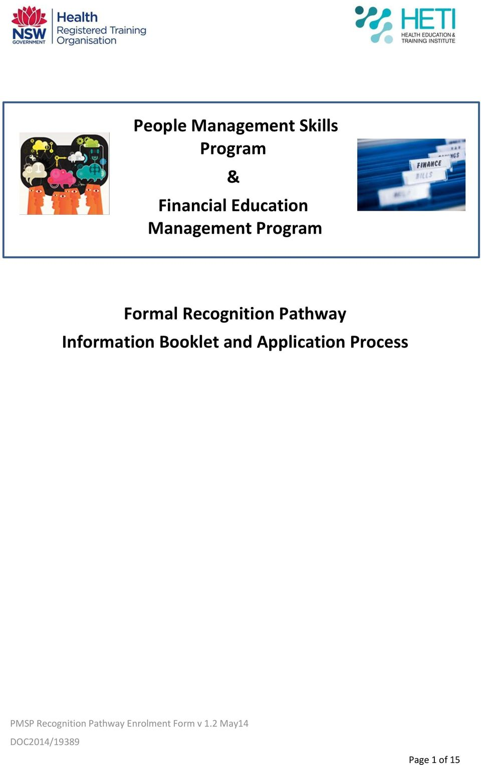 Formal Recognition Pathway Information