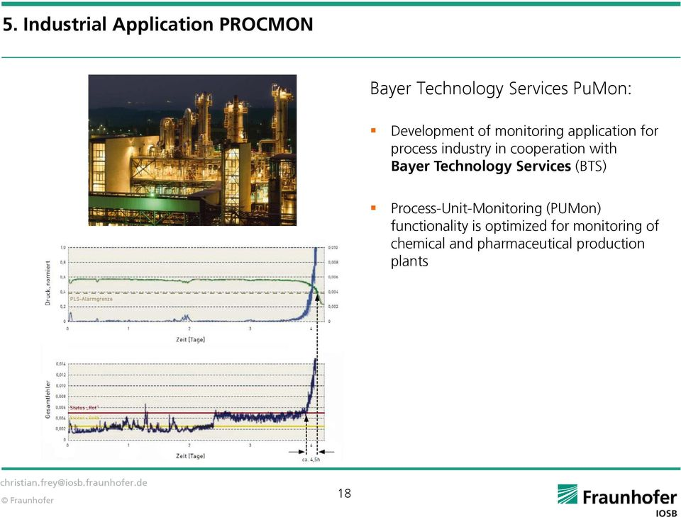 with Bayer Technology Services (BTS) Process-Unit-Monitoring (PUMon)