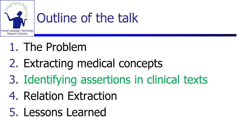 Identifying assertions in clinical