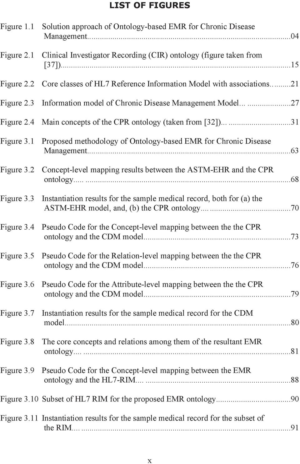 4 Main concepts of the CPR ontology (taken from [32])......31 Figure 3.1 Figure 3.2 Figure 3.3 Figure 3.4 Proposed methodology of Ontology-based EMR for Chronic Disease Management.