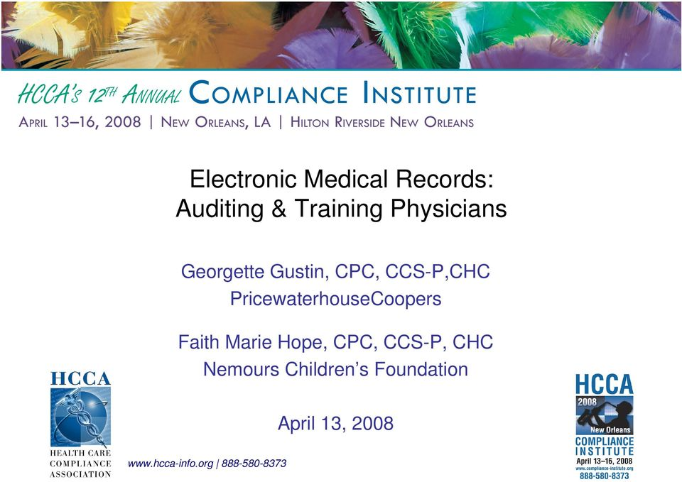 PricewaterhouseCoopers Faith Marie Hope, CPC, CCS-P,