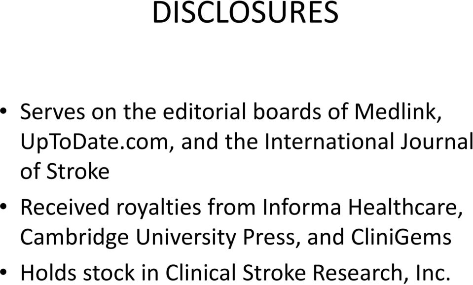 com, and the International Journal of Stroke Received