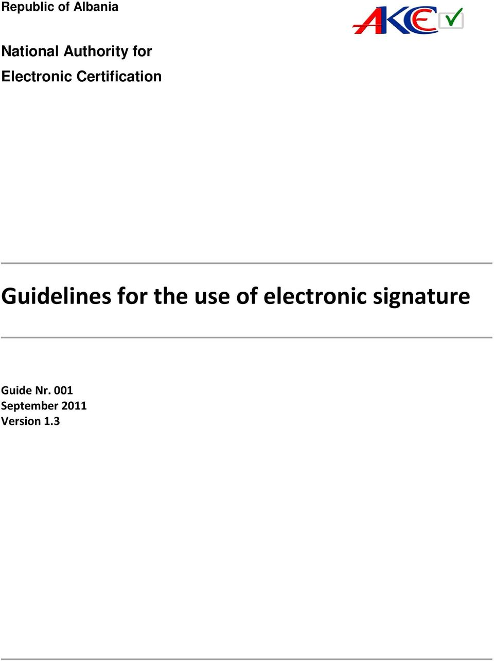 Guidelines for the use of electronic