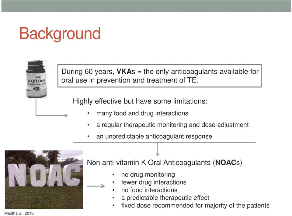 adjustment an unpredictable anticoagulant response Mantha S.