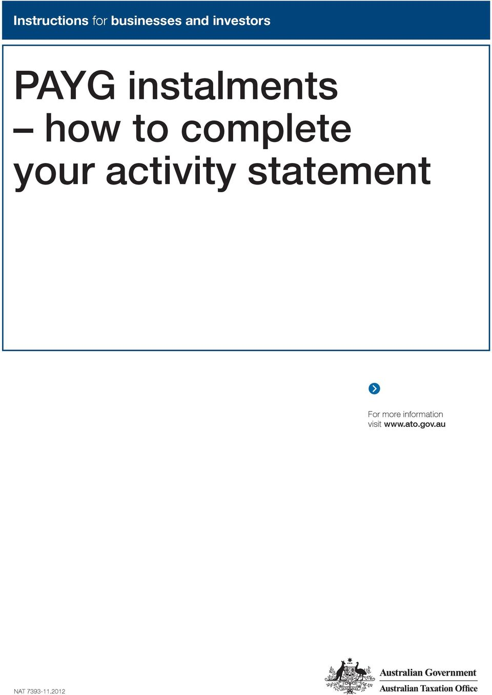 activity statemet For more iformatio