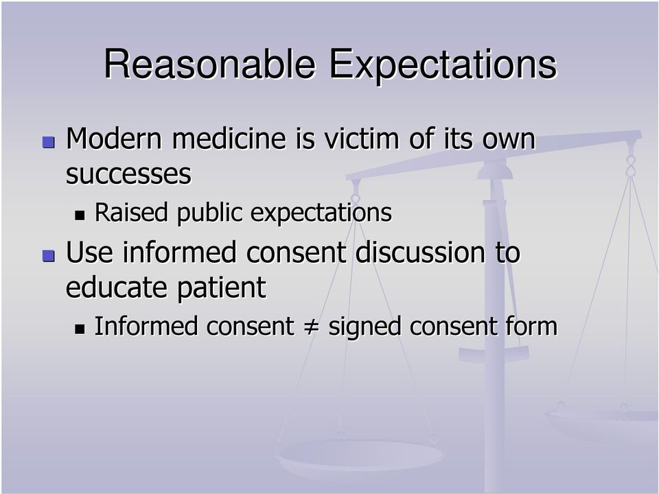 expectations Use informed consent discussion