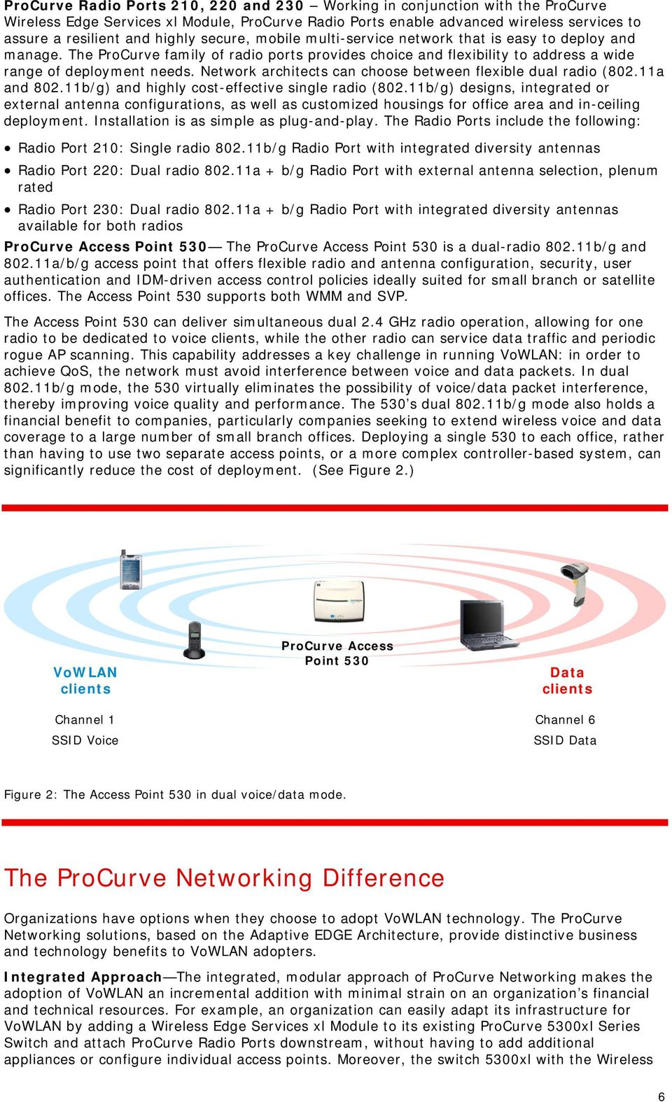 Network architects can choose between flexible dual radio (802.11a and 802.11b/g) and highly cost-effective single radio (802.