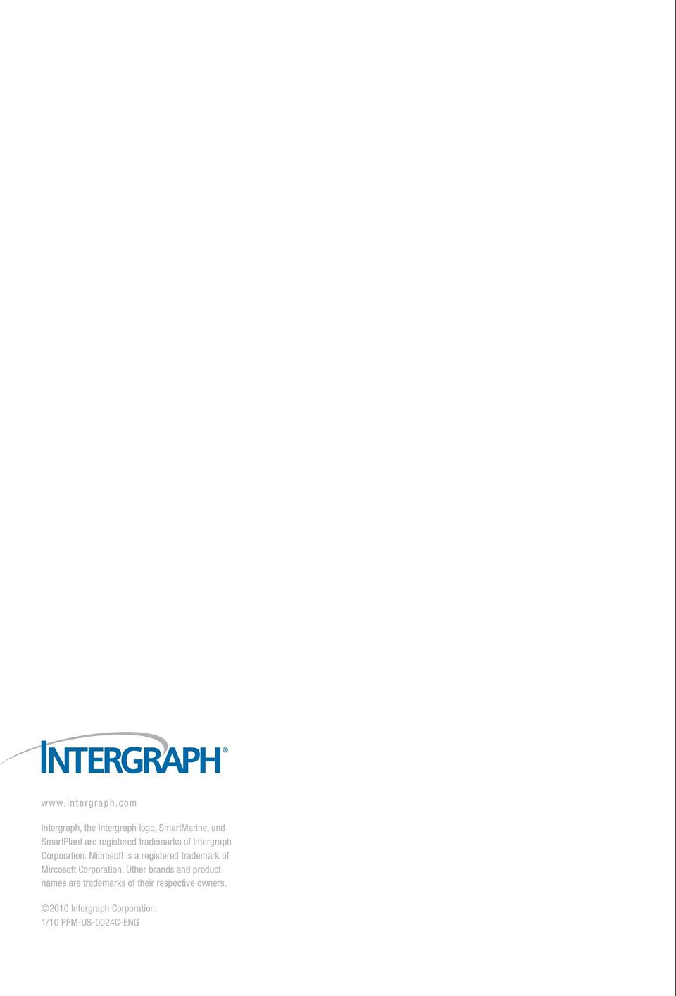 trademarks of Intergraph Corporation.