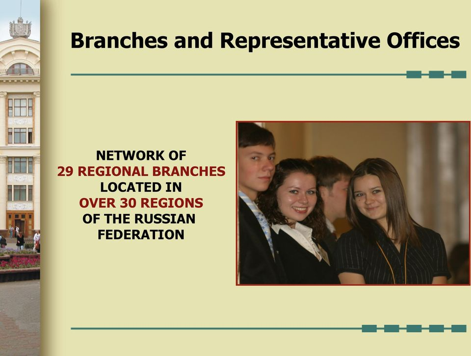 REGIONAL BRANCHES LOCATED IN