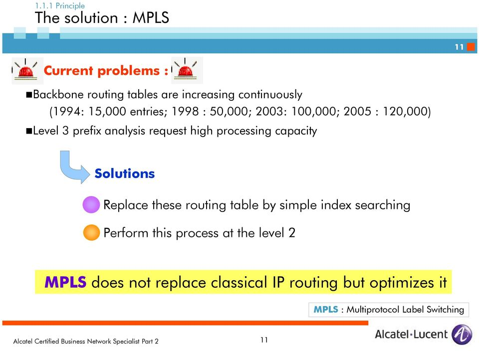 request high processing capacity Solutions Replace these routing table by simple index searching Perform