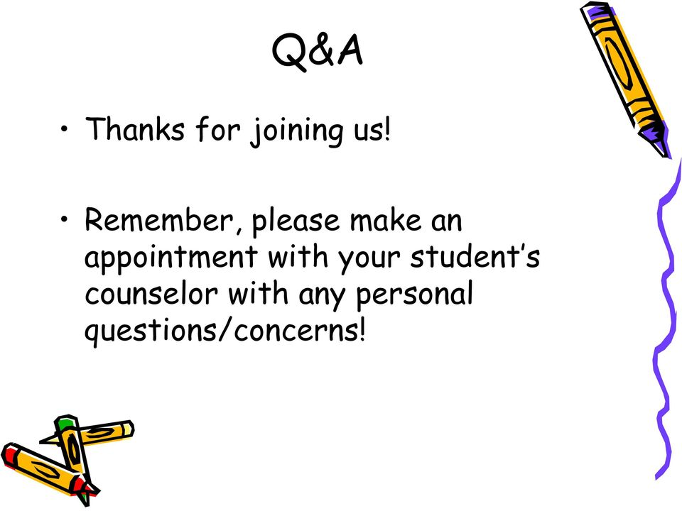 appointment with your student s
