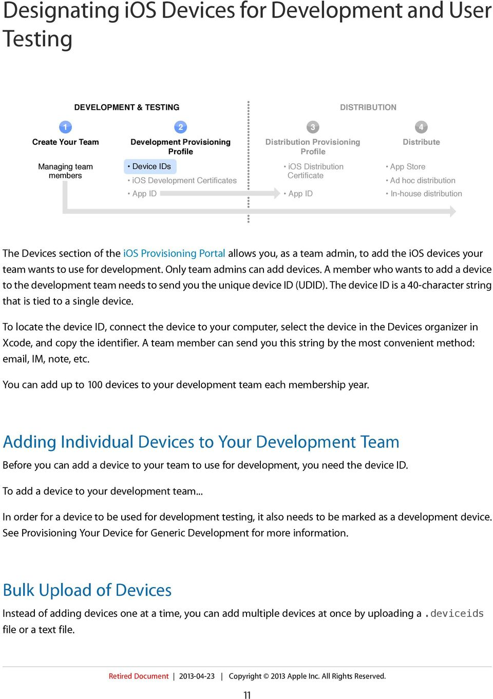 team admin, to add the ios devices your team wants to use for development. Only team admins can add devices.