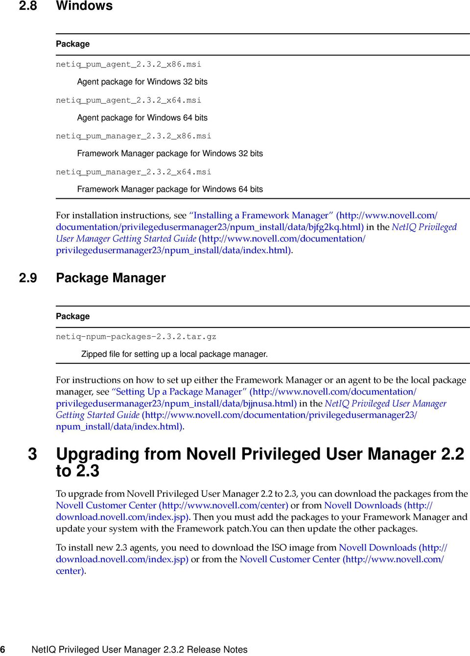 com/ documentation/ in the NetIQ Privileged User Manager Getting Started Guide (http://www.novell.com/documentation/ privilegedusermanager23/npum_install/data/index.html). 2.