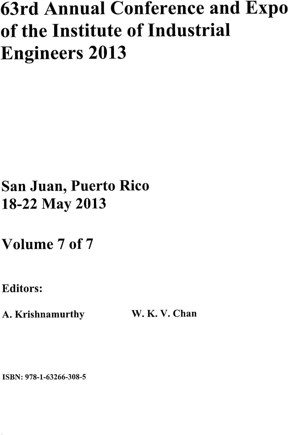 Juan, Puerto Rico 1822 May 2013 Volume 7 of 7