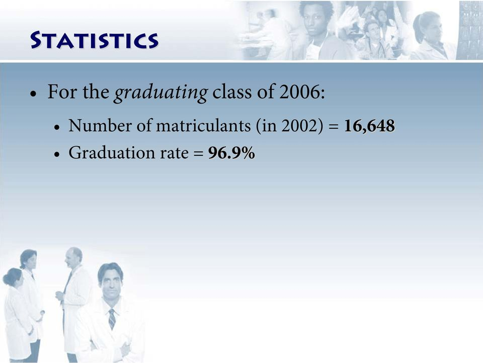 Number of matriculants (in