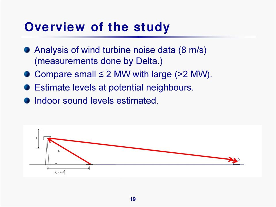 ) Compare small 2 MW with large (>2 MW).