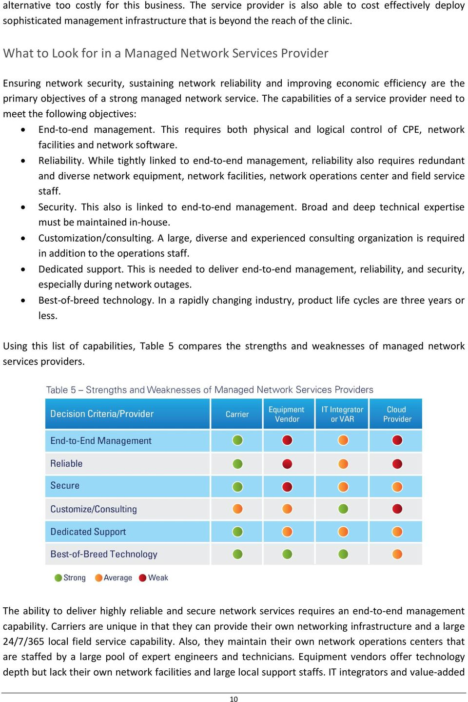 network service. The capabilities of a service provider need to meet the following objectives: End-to-end management.