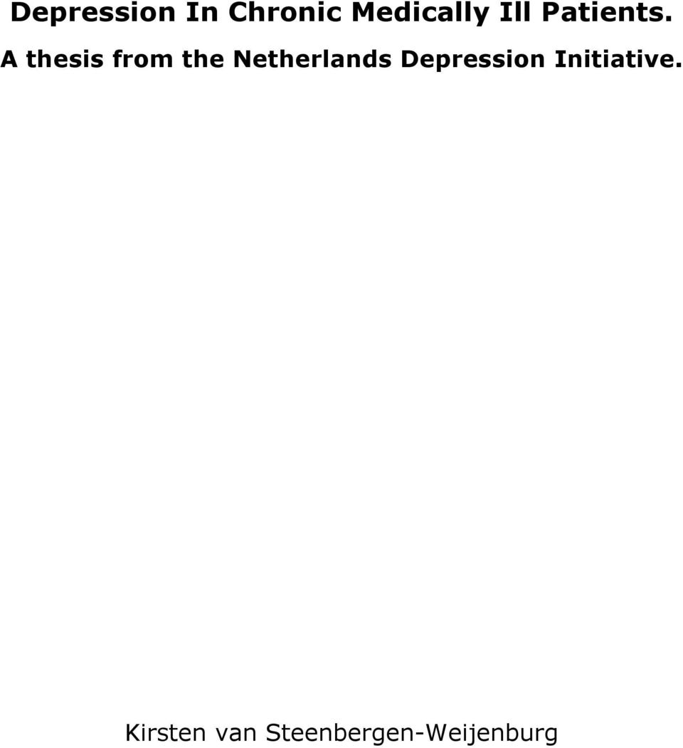 A thesis from the Netherlands