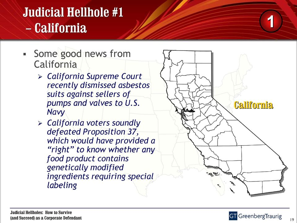 Navy California voters soundly defeated Proposition 37, which would have provided a right to