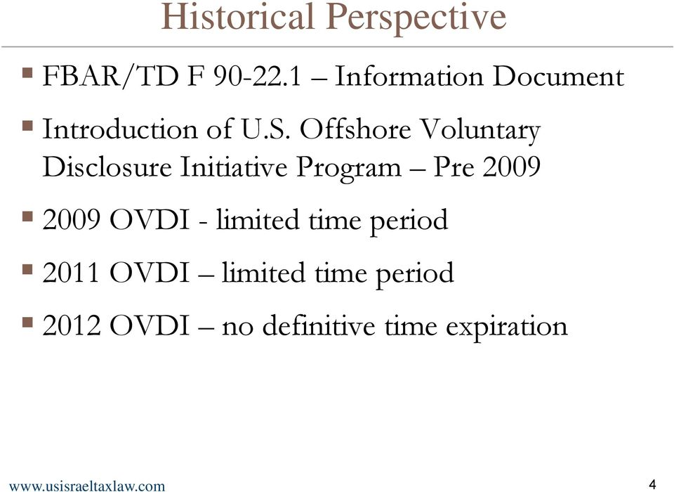 Offshore Voluntary Disclosure Initiative Program Pre 2009 2009