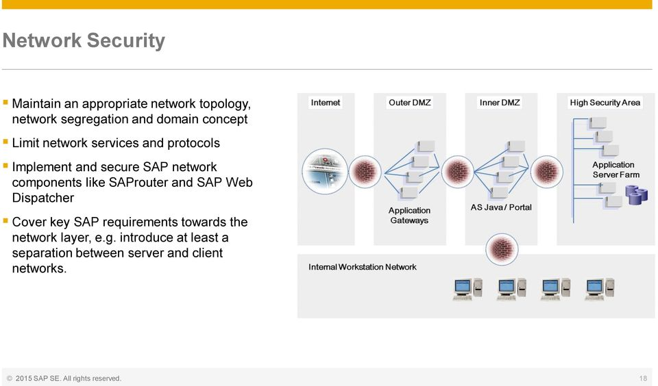 SAProuter and SAP Web Dispatcher Cover key SAP requirements towards the network layer, e.g.
