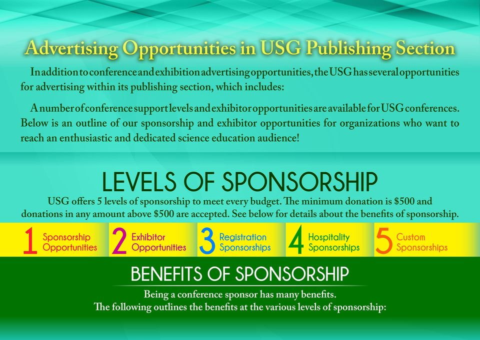 Below is an outline of our sponsorship and exhibitor opportunities for organizations who want to reach an enthusiastic and dedicated science education audience!