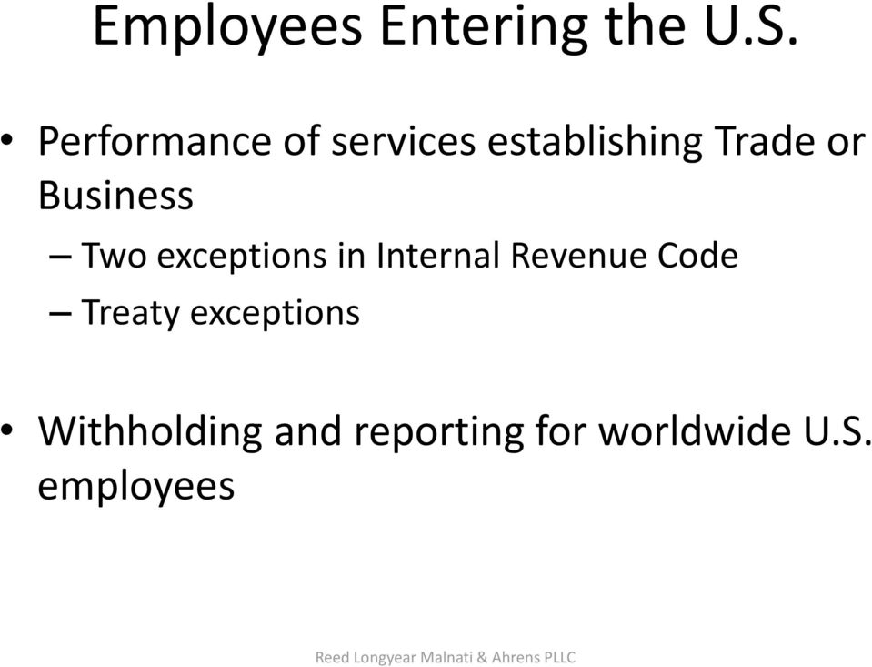 Two exceptions in Internal Revenue Code Treaty exceptions