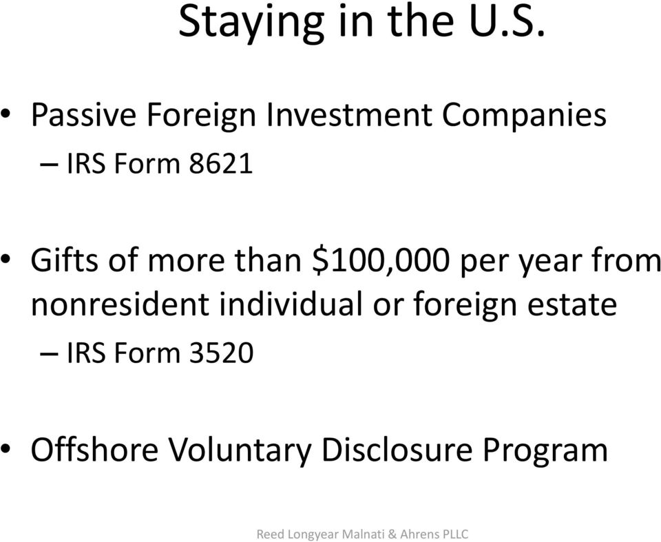 nonresident individual or foreign estate IRS Form 3520