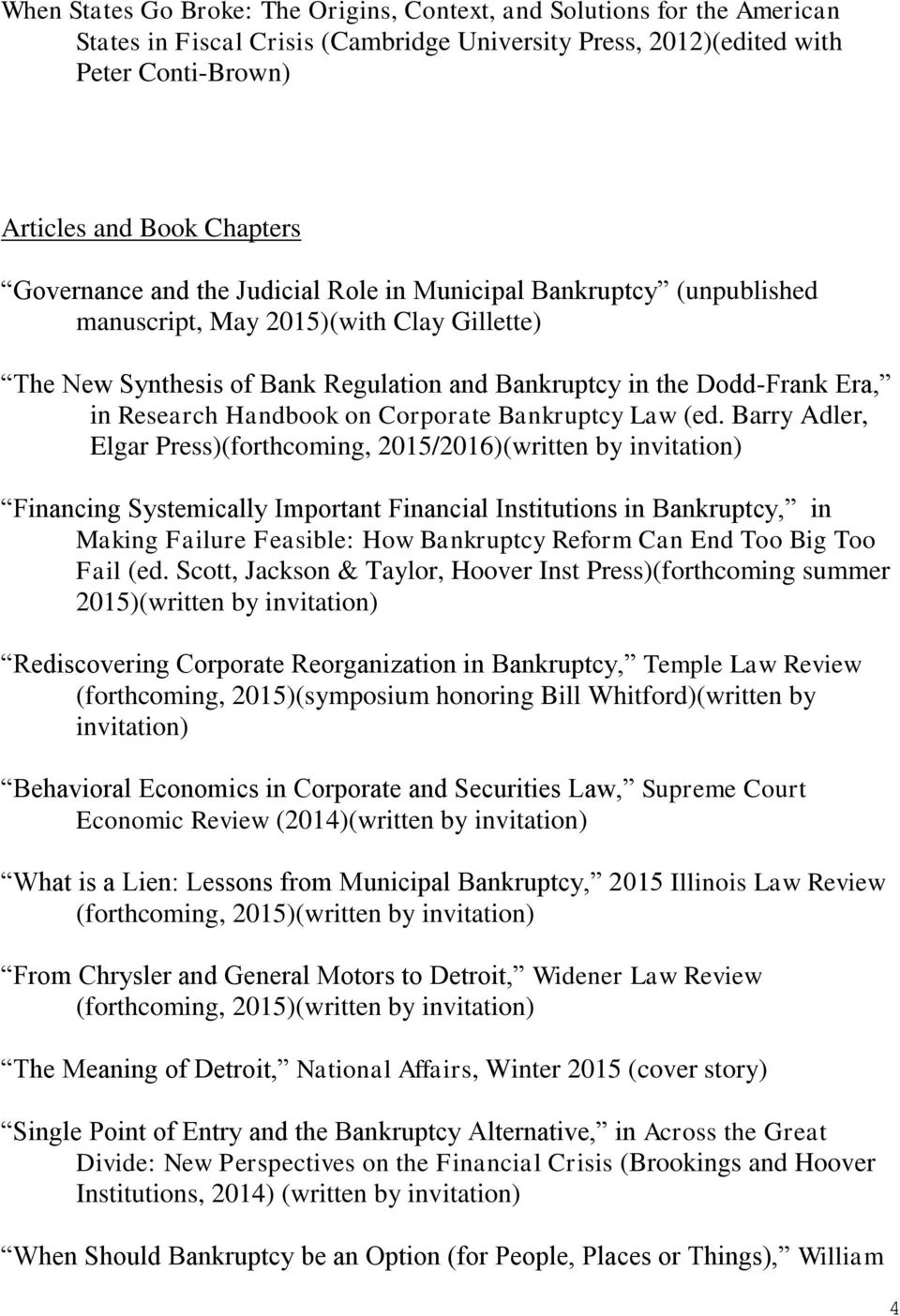 Handbook on Corporate Bankruptcy Law (ed.