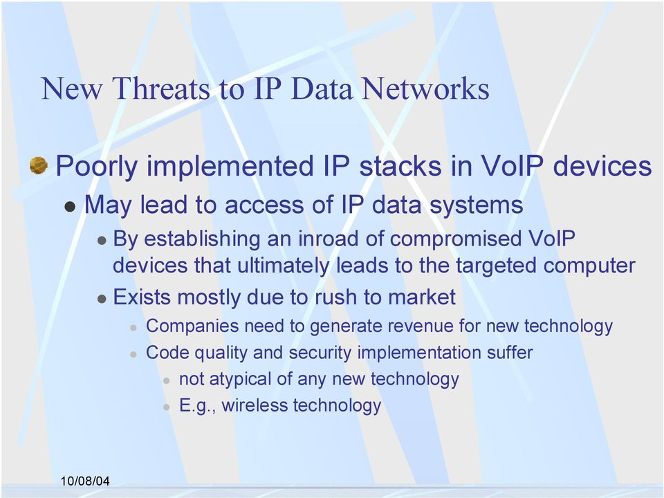 By establishing an inroad of compromised VoIP devices that ultimately leads to the targeted computer!