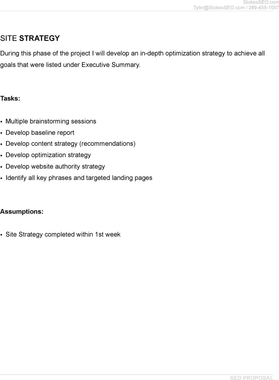 Tasks: Multiple brainstorming sessions Develop baseline report Develop content strategy (recommendations)
