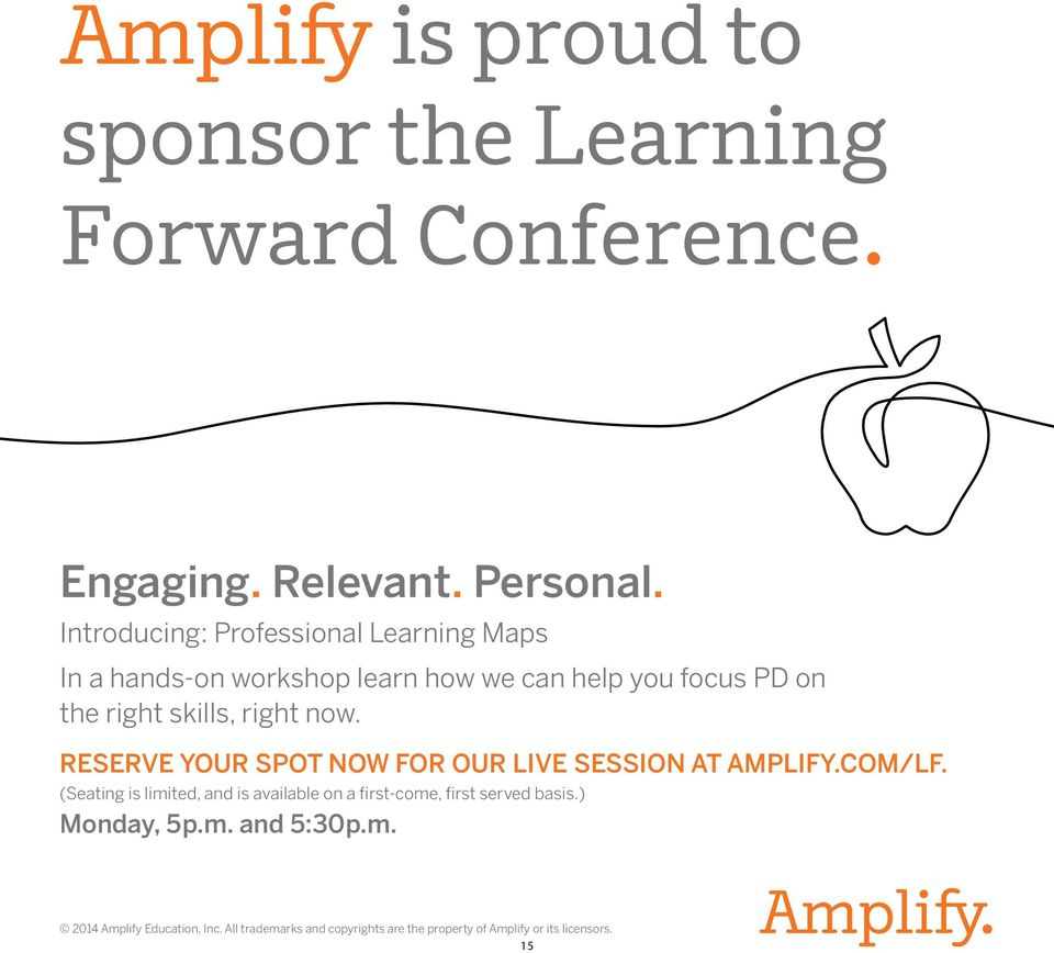 right now. RESERVE YOUR SPOT NOW FOR OUR LIVE SESSION AT AMPLIFY.COM/LF.